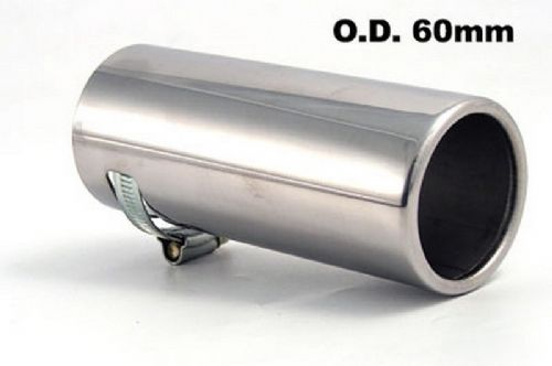 Stainless Steel exhaust tip - trim universal fit - LARGE 45mm-55mm - top quality